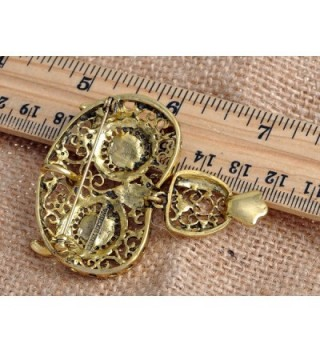 Alilang Antique Golden Rhinestone Embellish in Women's Brooches & Pins