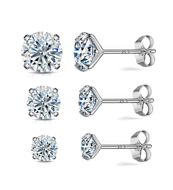 Sterling earrings simulated diamond hypoallergenic - CF1884OS9L2