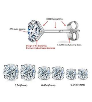 Sterling earrings simulated diamond hypoallergenic in Women's Stud Earrings