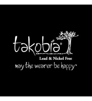 Takobia Womens Petite Brushed Silver in Women's Stud Earrings