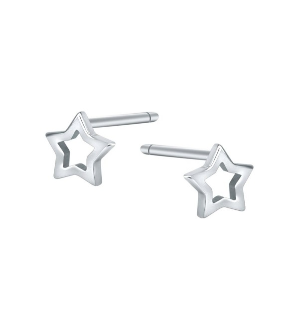 AoedeJ Star Earrings Sterling Silver Minimalist Star Stud Earrings for Women Girls Valentines Earrings - Style 2 - CK189LW0U5C