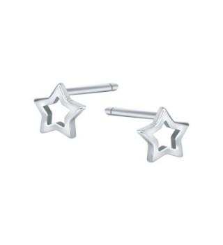 AoedeJ Star Earrings Sterling Silver Minimalist Star Stud Earrings for Women Girls Valentines Earrings - Style 2 - CK189LW0U5C