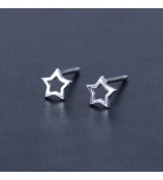 AoedeJ Earrings Sterling Silver Minimalist in Women's Stud Earrings