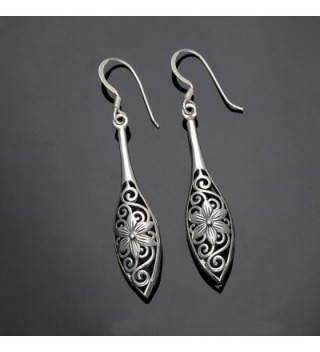 EVER FAITH Sterling Inspired Filigree in Women's Drop & Dangle Earrings