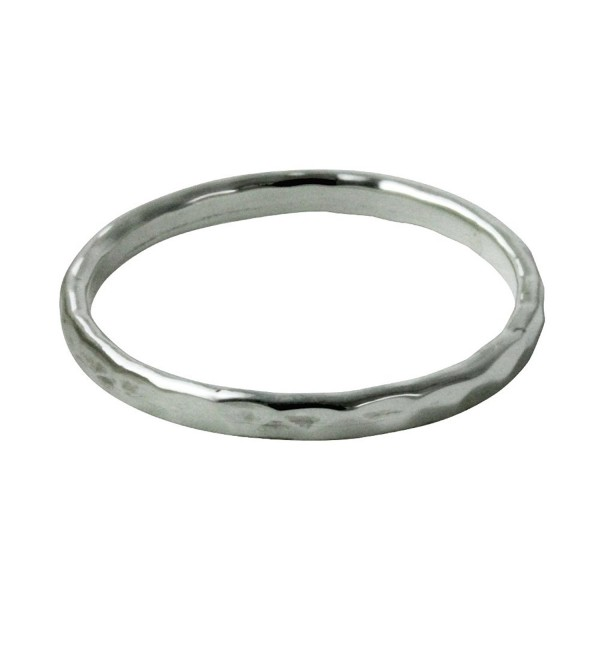 "apop nyc ""Disko"" 2mm Sterling Silver Faceted Band Stacking Ring (Size 5 - 10) - C611KGFPECF"