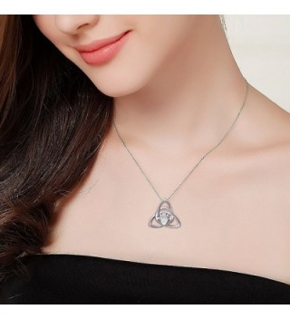 Sterling Silver Claddagh Pendant Necklace in Women's Pendants