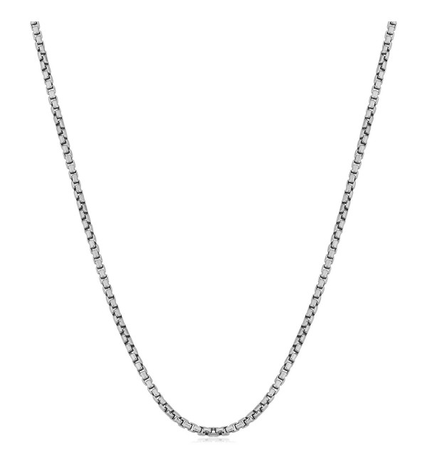 Sterling Silver 1.2mm Round Box Chain (14- 16- 18- 20- 22- 24- 30 or 36 inch) - sterling-silver - CG1163M3C33