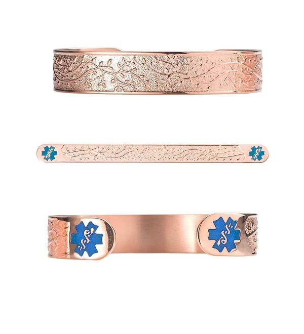 Divoti Engraved Valentine Medical Bracelet - TP Blue - CK12H03BKO1