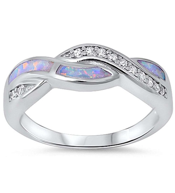 Infinity Crisscross Crossover Zirconia Sterling - Lab White Opal& Simulated Clean CZ - CS12MZDJTXH