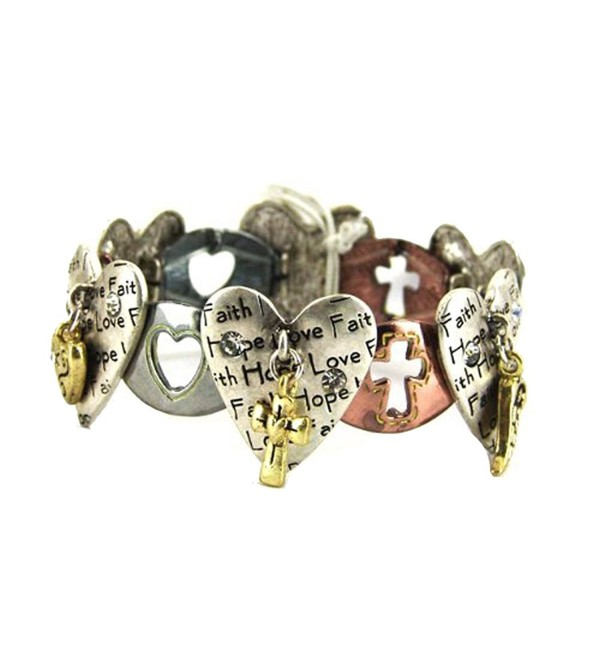 4030082a Faith Hope Love 1st Corinthians Stretch Bracelet Christian Scripture Religious - CI11HSKVUK1