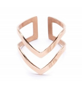 Double Chevron Band Titanium Jewelry