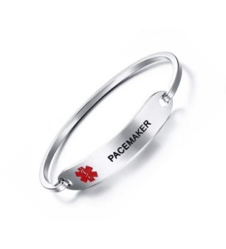 PJ Pacemaker Medical Bracelets Engraving in Women's ID Bracelets