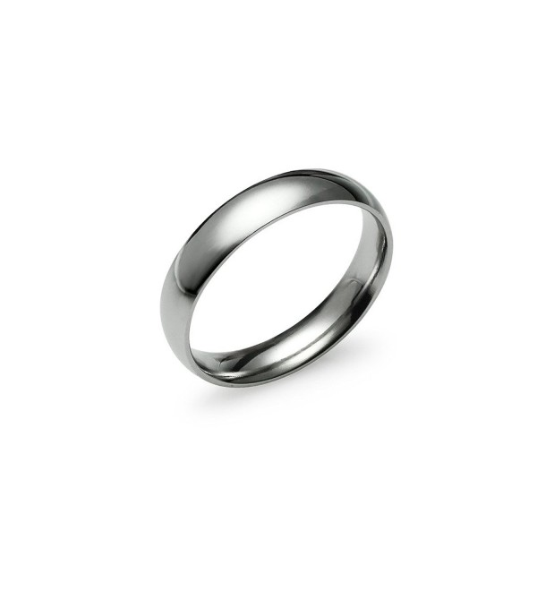 High Polish 4mm Plain Comfort Fit Wedding Band Ring Stainless Steel Many Sizes Available - CL17Z2DOAAT