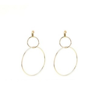 Gudukt Double Earrings Simple Circle