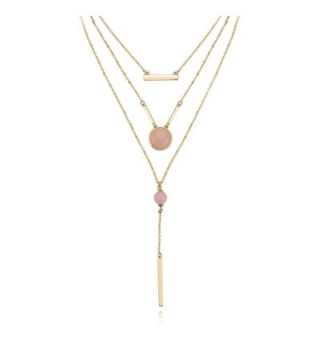KISSPAT Triple Layered Necklace Gemstones in Women's Choker Necklaces