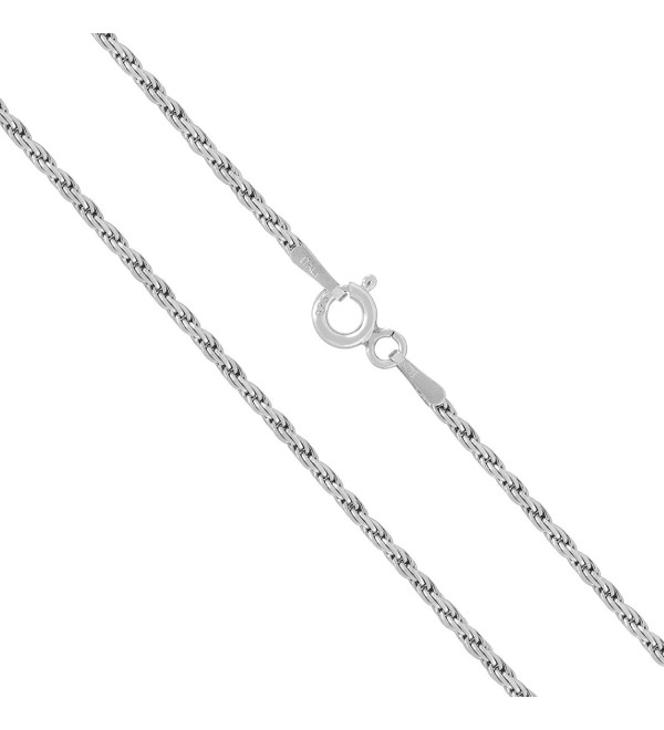 "Sterling Silver 1mm Rope Chain Necklace- 14"" - 36"" - CW11KN18UB9"