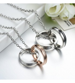 Titanium Couple Pendant Necklace Perfect in Women's Lockets