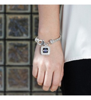 Awareness Classic Silver Crystal Bracelet in Women's Link Bracelets
