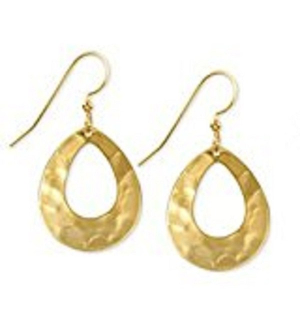 Silver Forest Gold-Tone Open Hammered Teardrop Earrings NE-0227 - CP120AAFCRZ