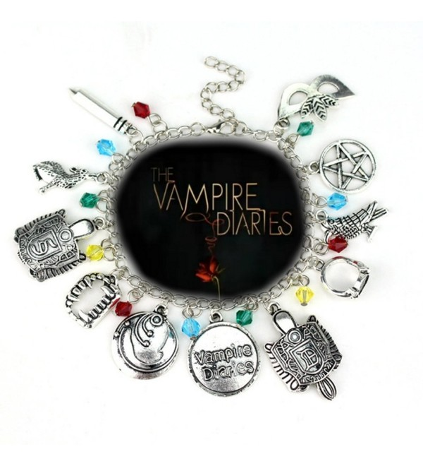 The Vampire Diaries Inspired Jewelry Collection 11 Charms Lobster Clasp Bracelet in Gift Box by Superheroes Brand - CE12NSCJVQR