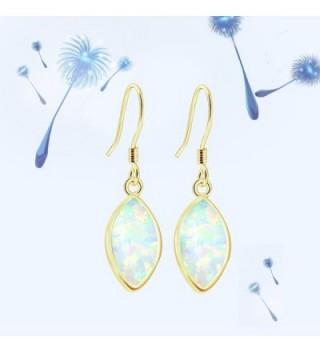 Sinlifu Gemstone Australian Marquise Earrings in Women's Drop & Dangle Earrings