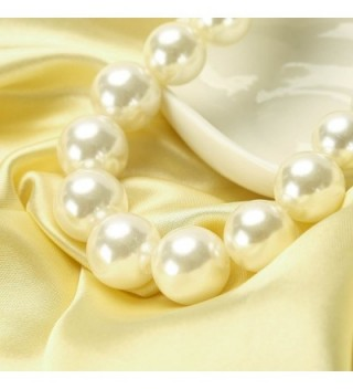MeliMe Necklaces Flapper Wedding Jewelry in Women's Pearl Strand Necklaces