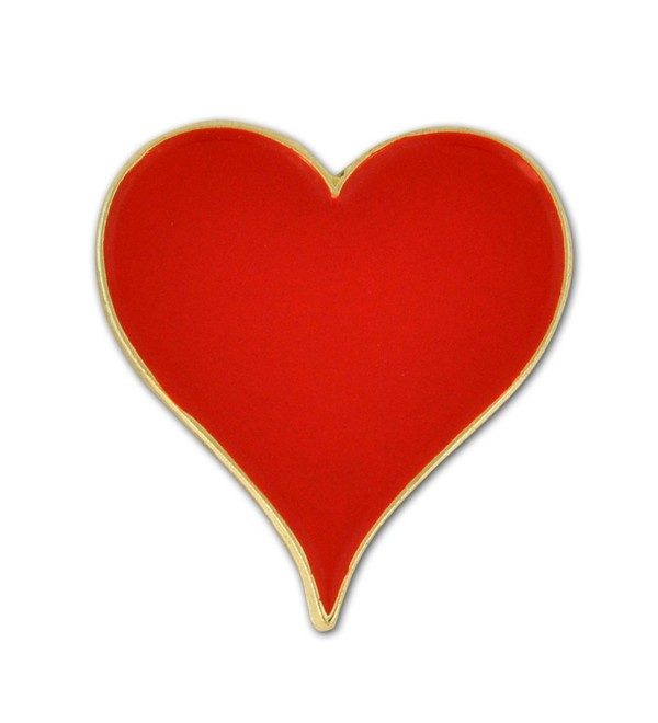 PinMart's Playing Cards Red Hearts Suit Enamel Lapel Pin - C712IJW2N2Z