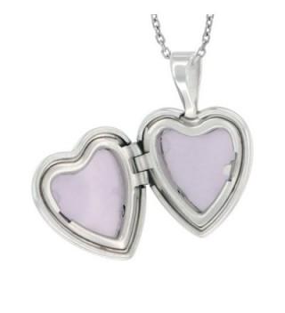 Sterling Silver Diamond Locket Necklace