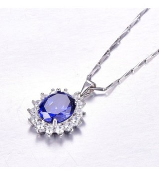 BONLAVIE Princess Tanzanite Sterling Solitaire in Women's Pendants