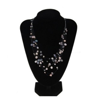 Multicolor Irregular Freshwater Multilayer 100555 in Women's Strand Necklaces