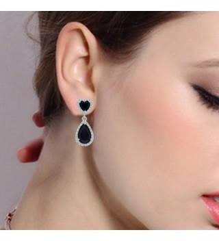 EleQueen Sterling Zirconia Birthstone Teardrop in Women's Drop & Dangle Earrings