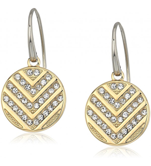 Fossil Chevron Glitz Drop Earrings - Gold tone - CD186DGI6I3