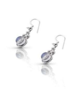 Moonstone Delicate Earrings Sterling Vintage