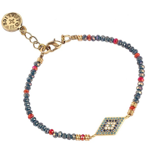 Tom Alice Bracelets Crystal Diamond shaped - Navy-blue - C5185NZ0UNO