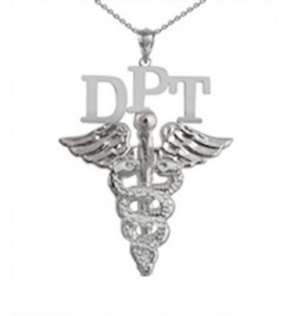 NursingPin - Doctor of Physical Therapy DPT Necklace in Silver Jewelry and Gifts - CQ1179I2MWR