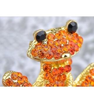 Alilang Orange Crystal Rhinestones Smiling