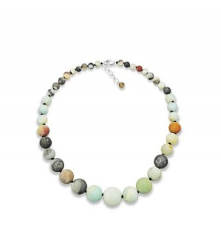 BJB Amazonite Graduated Hand Knotted Necklace- 20 Inch Long - CD182DASHO8