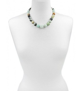 Amazonite Graduated Hand Knotted Necklace