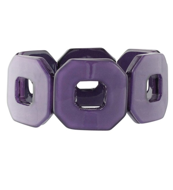 Heirloom Finds Purple Passion Geometric Square Plastic Wide Cuff Bracelet - CY11HUYJLAP