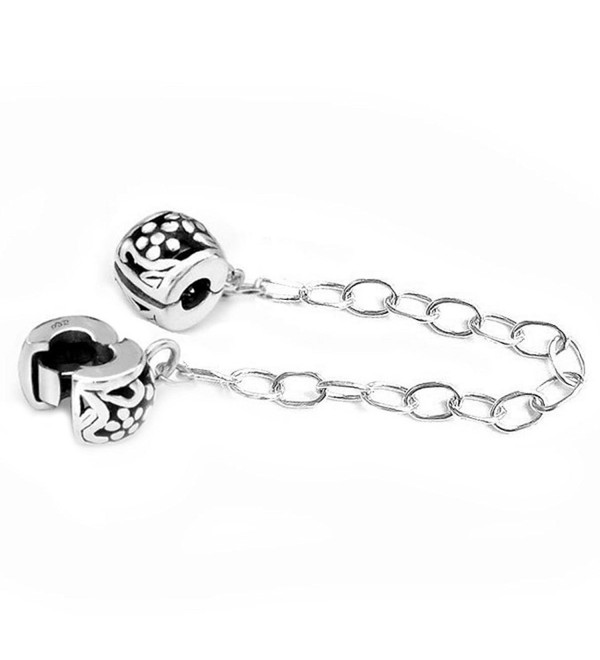Sterling Silver Stopper Safety Chain Bead For European Charm Bracelets - CN116K3G6BF