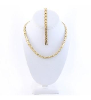 Gold Hugs & Kisses Necklace and Bracelet Set Hearts 2 - CD12HWV69BZ