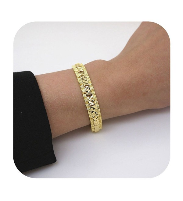 Culovity 14K Gold Fill Bracelet - Handmade High Polished Link Bracelets Jewelry for Women Girls Gift - C0189MANKO3