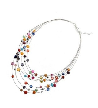 TOOGOO Gorgeous Necklace Earring Set Multicolor