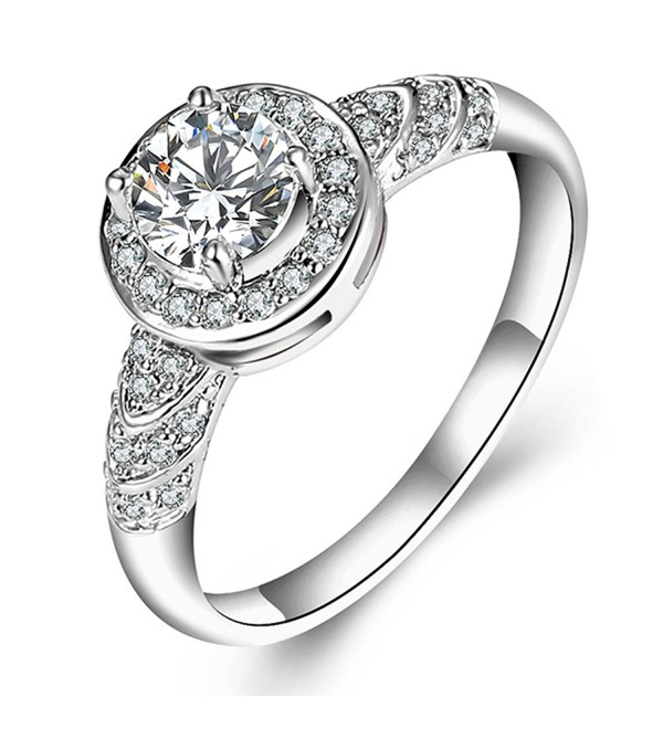 F U Platinum Diamond Engagement Jewelry - platinum-plated - C5183G08D2D