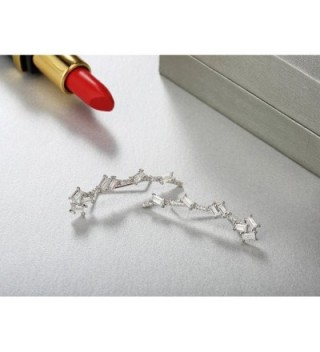 Mevecco Crawler Climber Earrings Jewelry 01 Silver