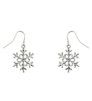 Lux Accessories Snowflake Christmas Earrings in Women's Chain Necklaces