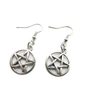 Pentagram Earrings Pentacle Protection Elements - CT129F7O529