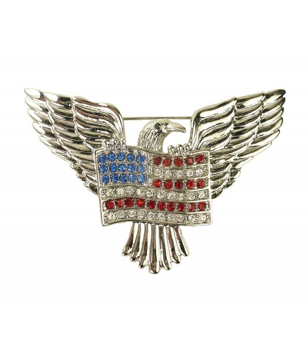 "For Love of Country ""American Eagle and Flag"" Pin Brooch - CK11U9BOAXT"