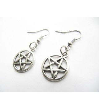 Pentagram Earrings Pentacle Protection Elements