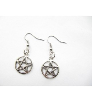 Pentagram Earrings Pentacle Protection Elements in Women's Drop & Dangle Earrings